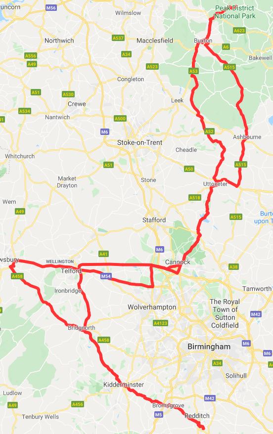 Peak District with Shrewsbury & Telford BWDE